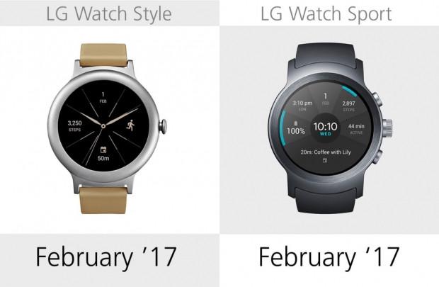 LG Watch Style ve LG Watch Sport karşılaştırma - Page 1