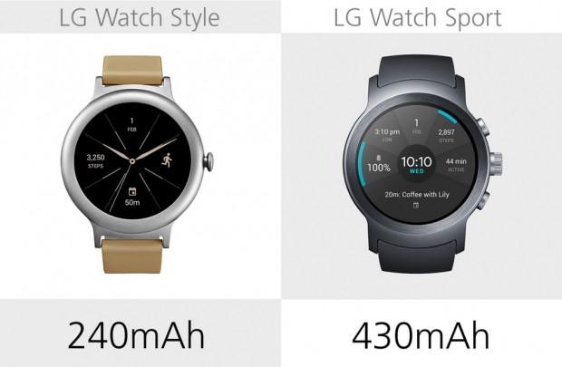 LG Watch Style ve LG Watch Sport karşılaştırma - Page 3