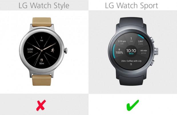 LG Watch Style ve LG Watch Sport karşılaştırma - Page 4