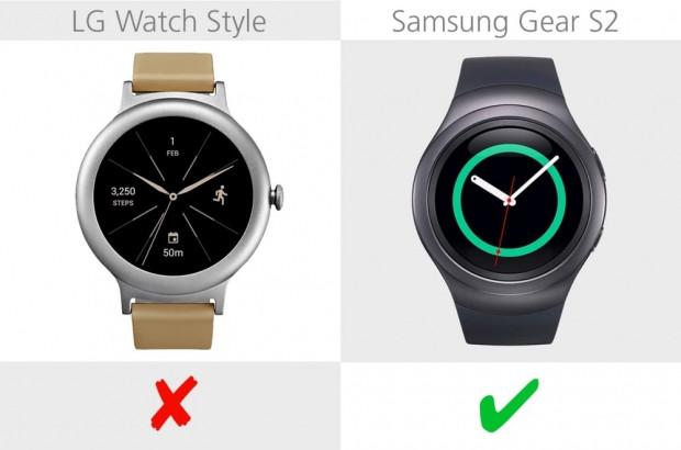 LG Watch Style ve Samsung Gear S2 karşılaştırma - Page 1