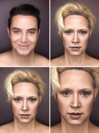Makyajla kendini herkese benzetiyor - Page 1
