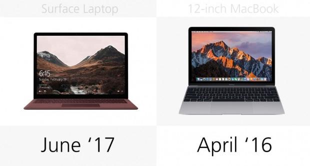 Microsoft Surface Laptop ve 12-inch MacBook karşılaştırma - Page 1