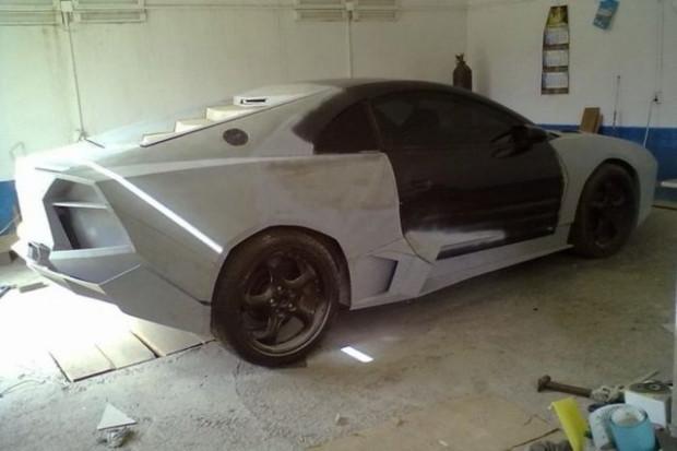 Mitsubishi marka otomobilini Lamborghini Aventador'a dönüştürdü - Page 1