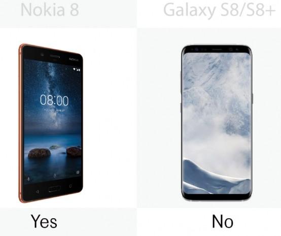 Nokia 8 ile Samsung Galaxy S8 / S8 + arasındaki farklar - Page 1