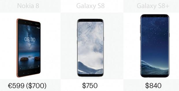 Nokia 8 ile Samsung Galaxy S8 / S8 + arasındaki farklar - Page 3