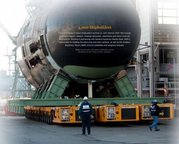 Nükleer enerji ile çalışan 102 metre uzunluğundaki John Warner denize indi - Page 4