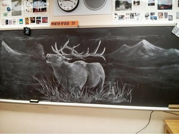 Öğrencilerini her gün tahtaya çizdiği farklı resimlerle karşılayan bir öğretmenin 7 çalışması - Page 3