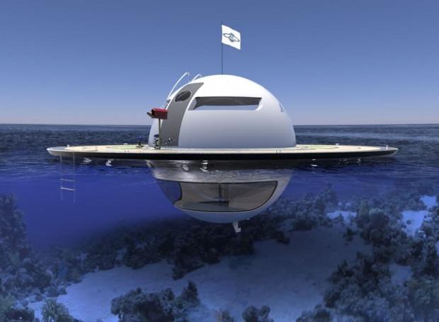 Okyanus üstünde yaşam için Ufo ev konsepti - Page 2