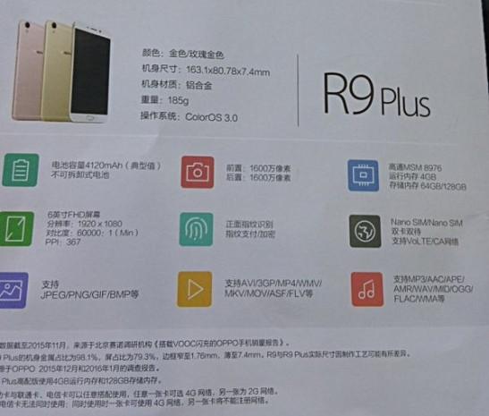 Oppo R9 ve R9 Plus'ın özellikleri kesinleşti! - Page 4