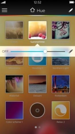 Philips Hue Beyond uygulaması ekran görüntüleri - Page 1