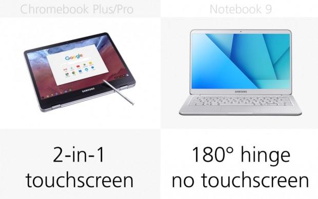 Samsung Chromebook Plus, Pro ve Notebook 9 karşılaştırma - Page 2