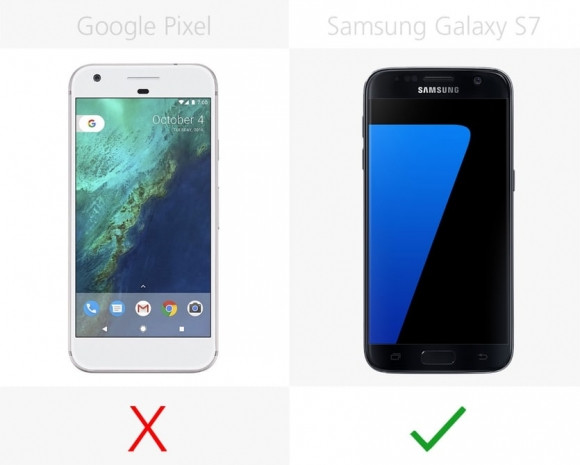 Samsung Galaxy S7 ve Google Pixel karşılaştırma - Page 1