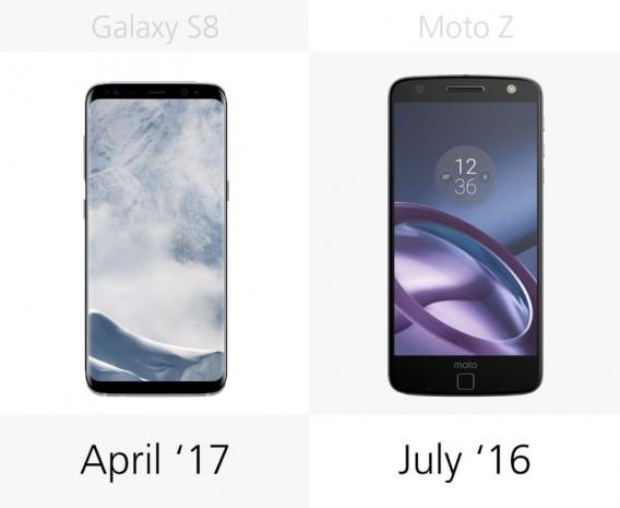 Samsung Galaxy S8 ve S8 + ile Moto Z karşılaştırma - Page 1