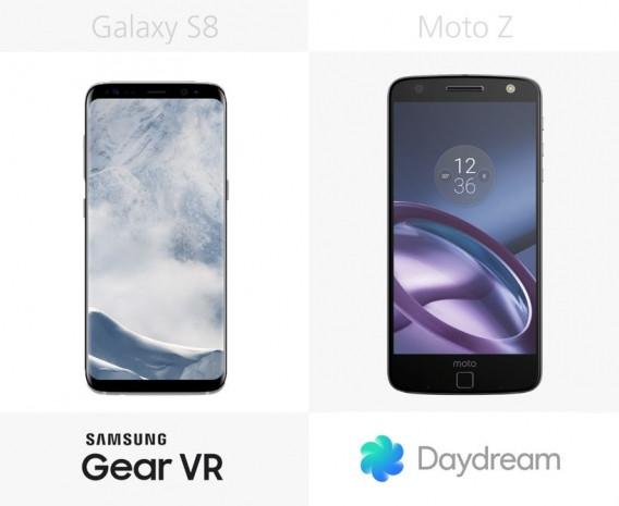 Samsung Galaxy S8 ve S8 + ile Moto Z karşılaştırma - Page 2