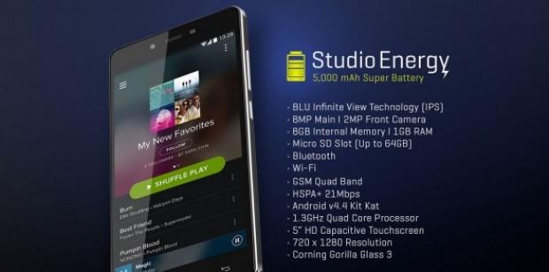 Şarjı 4 gün giden akıllı telefon 'Blu Studio Energy' - Page 1