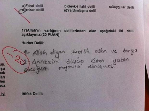 Sınav sorularına en komik cevaplar - Page 1