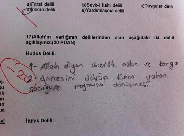 Sınav sorularına verilen komik cevaplar! - Page 2