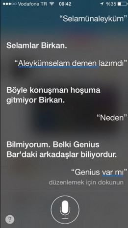 Sosyal medyada Türkçe Siri geyiği - Page 1