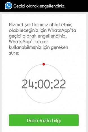Whatsapp'tan 24 saat erişim engeli - Page 2