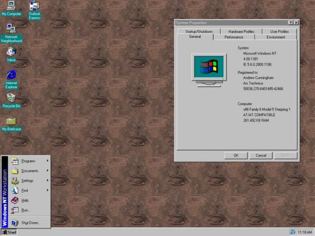 Windows başlangıç menüsünün görsel tarihi - Page 1