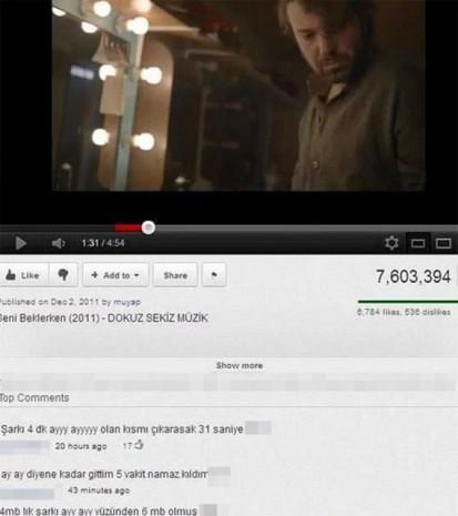 Youtube yorumları tık rekoru kırıyor! - Page 1