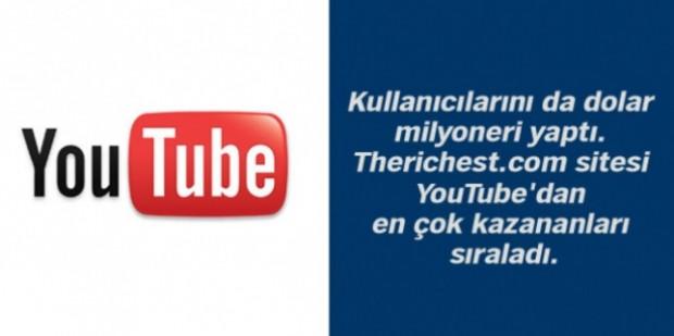YouTube'den en çok kazananları biliyor musunuz? - Page 1
