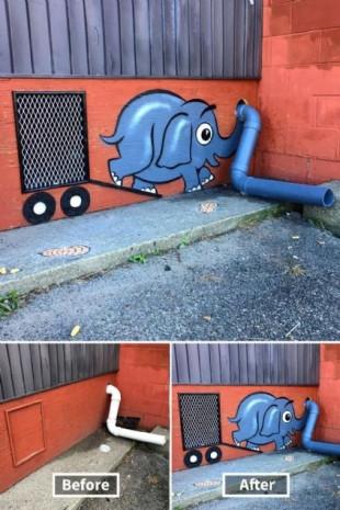 Zekice tasarlanmış sokak sanatı örnekleri - Page 1