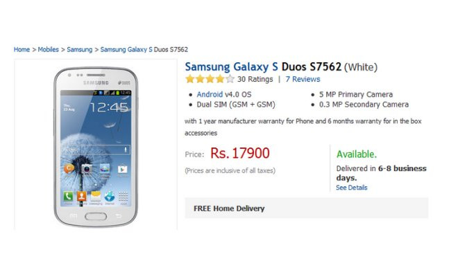 Samsung Galaxy Duos S7562 Piyasada! Haberi Image