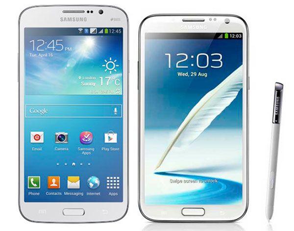 Samsung galaxy mega 5 8 ve samsung galaxy note ii karşılaştırması