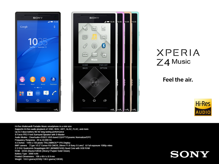 Sony Xperia Z4 son sızıntı haber Xperia Z4 Music çıkabilir