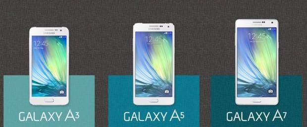 Samsung un galaxy a serisinin üç üyesi için hazırladığı