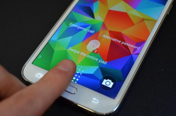 Samsung note 4 parmak izi okuyucu