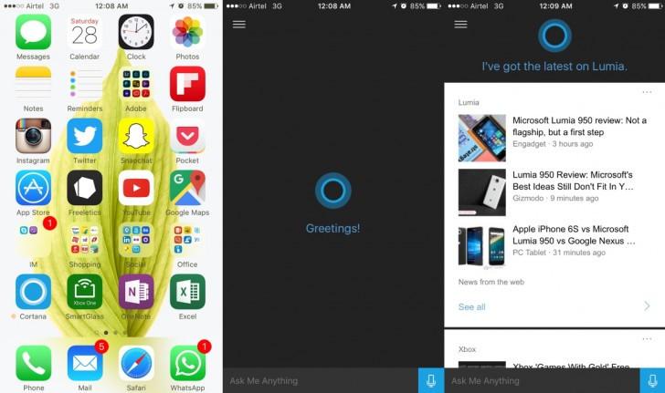 Cortana, iOS için dağıtıma sunuldu