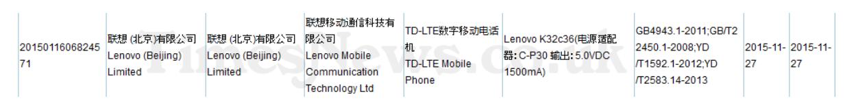 Lenovo'nun yeni telefonu sertifika aldı
