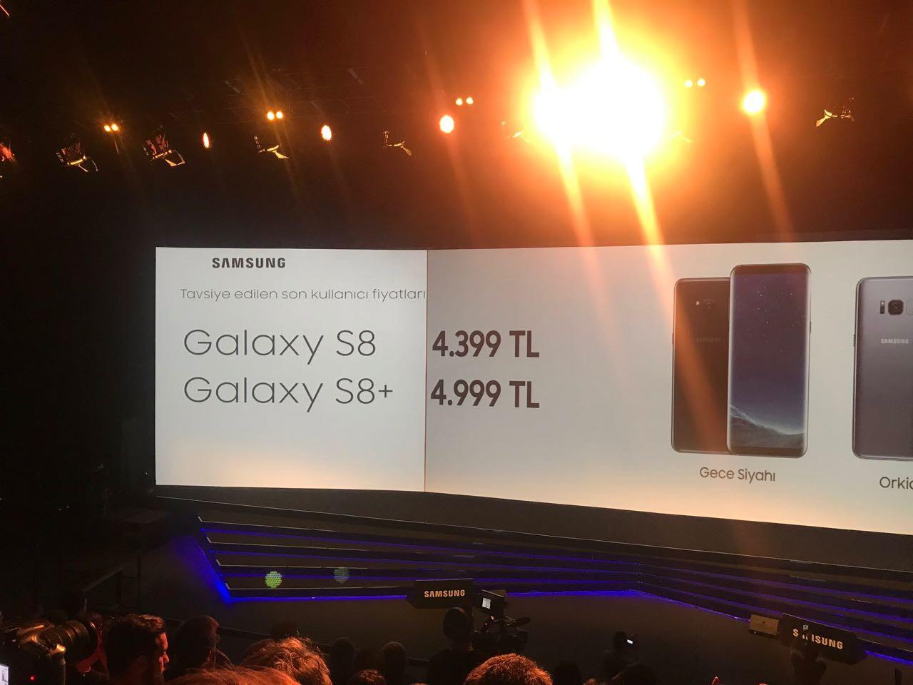 galaxy s8 fiyat