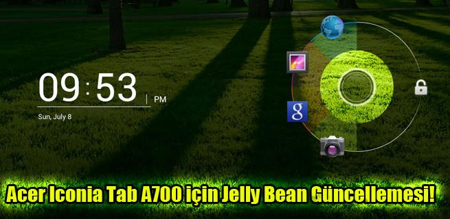 Acer Iconia Tab A700 için 4.1 Jelly Bean güncellemesi!