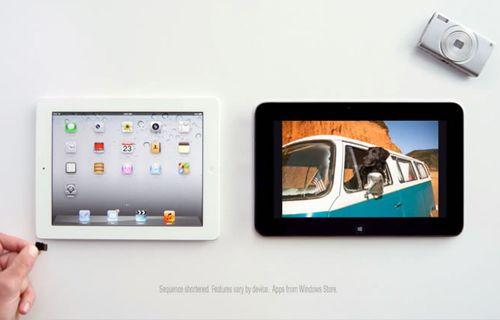 iPad ve Dell tablet arasında komik karşılaştırma