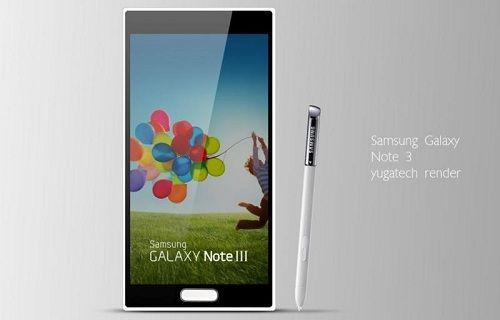 Galaxy Note 3'ün ekran boyutu ne kadar olacak?