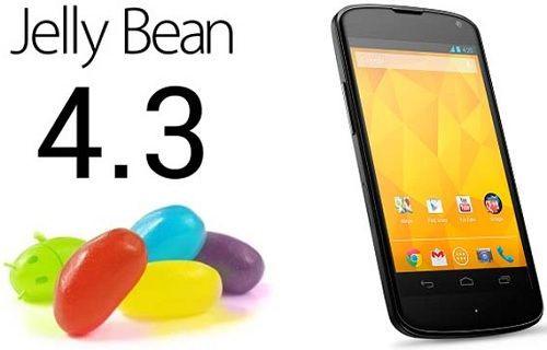 Android 4.3, Nexus 4'te ortaya çıktı
