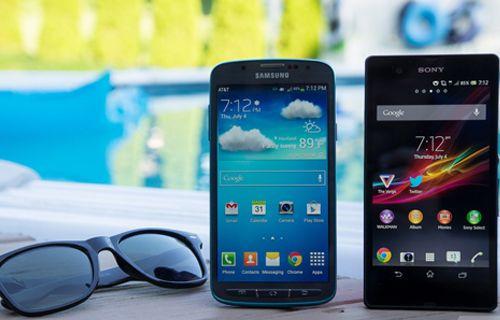 İki su geçirmez karşı karşıya: Galaxy S4 Active vs Xperia Z