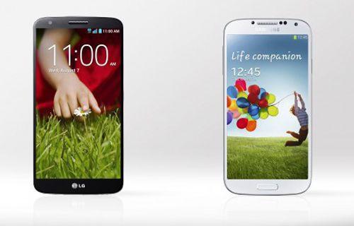 LG G2 vs Galaxy S4: Sayılarla karşılaştırma!