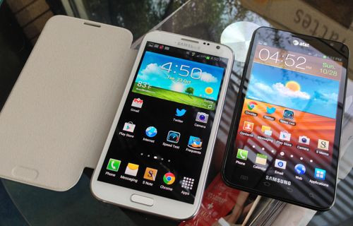 Galaxy Note 3'ün ön paneli ortaya çıktı
