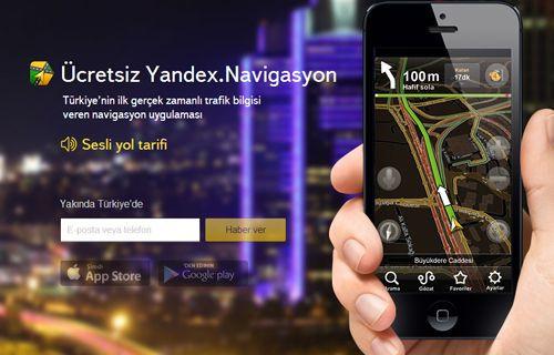 Yandex Navigasyon çok yakında Türkiye'de!