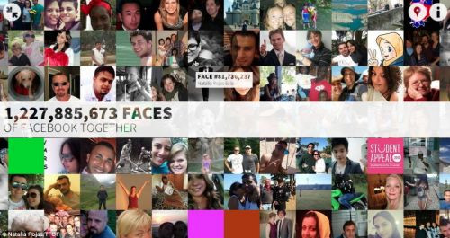 1.15 milyar Facebook profil resmi aynı karede toplandı!