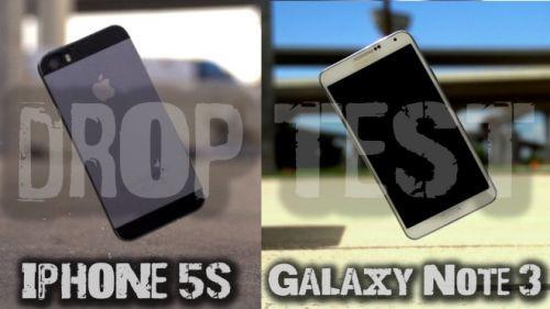 iPhone 5S ve Galaxy Note 3 düşürme testi! (Video)