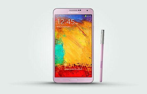 Pembe renkli Galaxy Note 3 satışa sunuldu!