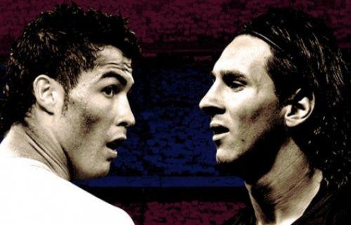 Ronaldo ve Messi sahanın ortasında kavgaya tutuştu!