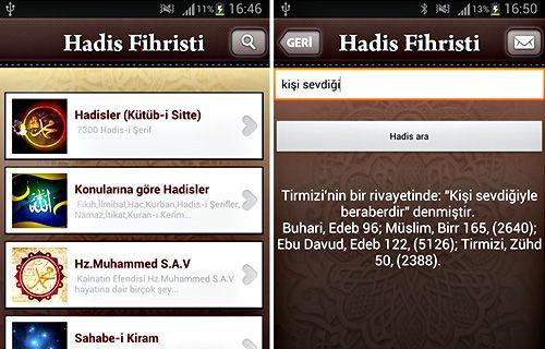 Günün Android Uygulaması: Hadis Fihristi