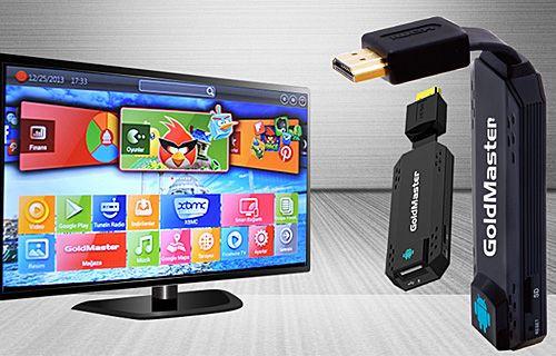 GoldMaster SmartStick ile akıllı bir televizyona ne dersiniz?