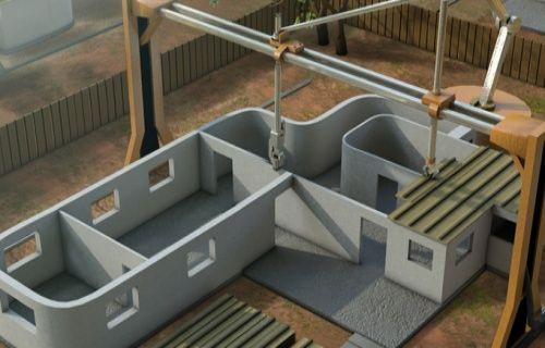 Gelecekte binaları 3D yazıcılar inşa edecek! (Video)